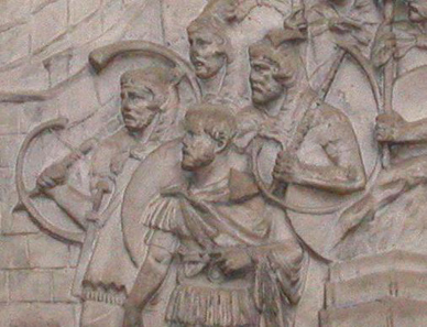 Detail from Trajan's Column. Source: Wikipedia.