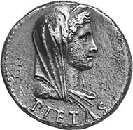 TIBERIUS, 14-37 AD. As in the name of Drusus, 22-23. PIETAS Diademed, veiled female bust r. Rev. DRVSVS CAESAR TI AVGVSTI F TR POT ITER around SC 15,12 g. BN 48, 74. BMC 133, 98. RIC 97, 43. C. 1.