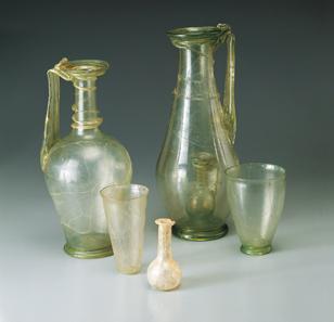 Kostbare römische Gläser, Stein am Rhein. © Museum zu Allerheiligen Schaffhausen.