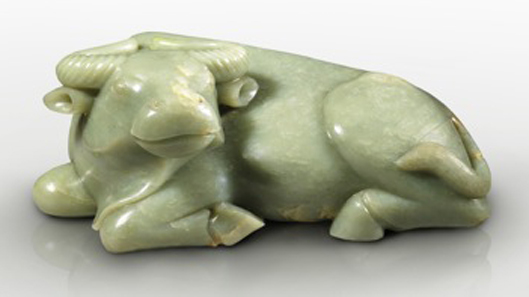 In China power and wealth is associated with the buffalo. This exceptionally fine jade figure was exhibited at TEFAF Maastricht 2012 by Priestley & Ferraro from London.