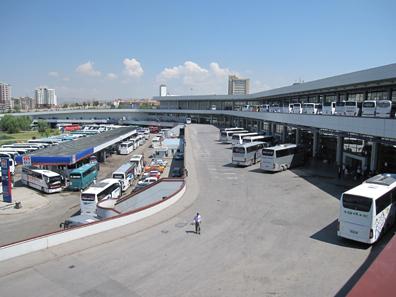 Busbahnhof von Ankara, größer als viele Flughäfen. Foto: KW.