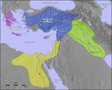 Karte des Hethiterreichs. Quelle: Wikipedia / http://gmt.soest.hawaii.edu.