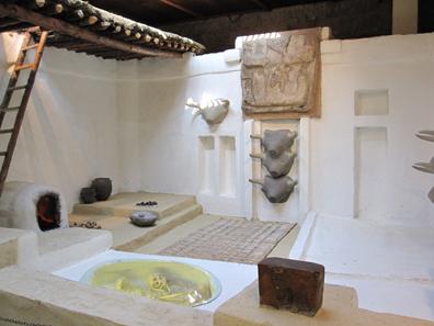 Rekonstruktion eines Hauses von Catal Hüyük. Foto: KW.
