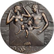 133: Medaille auf die Internationale Briefmarkenausstellung