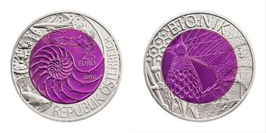 Die aktuelle Niob-Münze der Münze Österreich.
