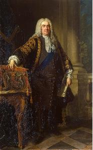 England's Prime Minister Sir Robert Walpole. Studio of Jean-Baptiste van Loo, 1740. Source: Wikipedia.