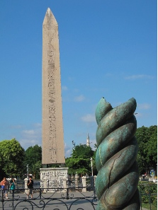 View at the Serpent Column and the Obelisk - the last remains of the Hippodrome. Photograph: KW.