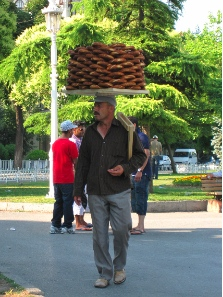 Simit sellers. Photograph: KW.