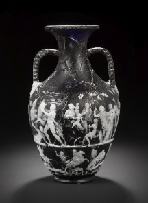 Bonhams Vase, front side: Scene of birth etc. (press photo Bonhams, London; by courtesy of the owner of the vase).