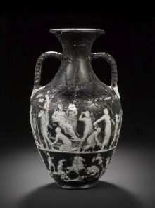 Bonhams Vase, back side: Kithairon etc. (press photo Bonhams, London; by courtesy of the owner of the vase).