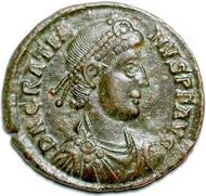 The Emperor Flavius Gratianus. Source: Wikipedia.