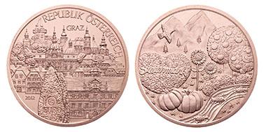 Österreich / 10 Euro / Kupfer / Entwurf: Thomas Pesendorfer, Sieger Wettbewerb: Viktoria Reicht / Auflage: 130.000.)