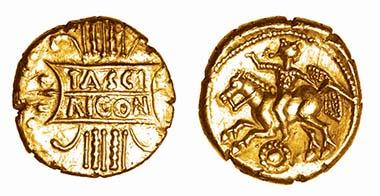 Rare gold stater of Tasciovanus
