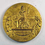 Prize medal of the International Exposition, Athens, 1903, gilt bronze, by Hond, Paris.