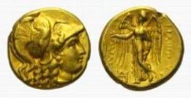 Makedonische Könige, Phillip III. Arrhidaios, AV-Stater.