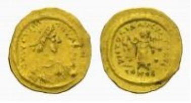 Byzantium, Justin II, tremissis.