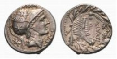 Roman Republic, Q. Lutatius Cerco, denarius (3.97 g).