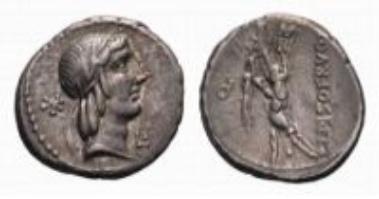 Roman Republic, L. Calpurnius Piso Frugi, denarius (3.99 g).