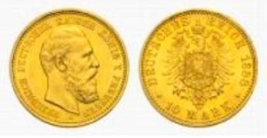 Preußen, Friedrich III., 10 Mark 1888 A.