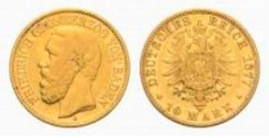 Baden, Frederick I, 10 Mark 1877 G.