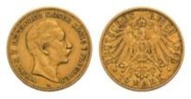 Preußen, Wilhelm II., 10 Mark 1893 A.