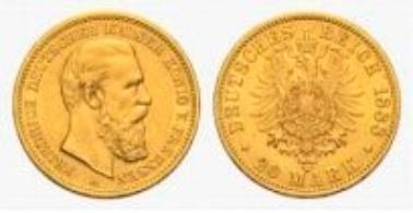 Preußen, Friedrich III., 20 Mark 1888 A.
