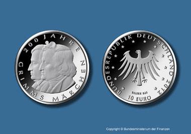 Die neue 10-Euro-Münze