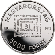 Hungary / 5,000 HUF /.925 Silver / 38.61 mm / 31.46 g / Design: Vilmos Király / Mintage: 2,000 (BU), 4,000 (Proof).