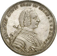 Reichstaler n. d. (1738), Nuremberg, on his accession to power. 29.21 g. Joseph 445. From auction Künker 212 (June 19, 2012), 4196. Estimate: 3.000 euros.