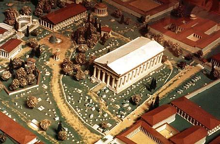 Modell des Heiligtums von Olympia. Foto: Steve Swayne / Wikipedia.