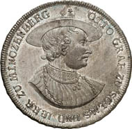 Konventionstaler 1770, Wertheim, on Count Otto, founder of the Solms-Laubach line. 28.07 g. Joseph 456. From auction Künker 212 (June 19, 2012), 4221. Estimate: 1,500 euros. Minted by Count Christian August, 1738-1784.