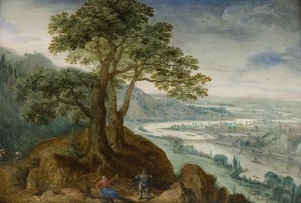 Lukas van Valckenborch, Blick auf Linz, sign. u. dat. 1599, Öl auf Holz, Inv. Nr. G 2647 (Neuerwerbung 2011). Foto: Oberösterreichische Landesmuseen.