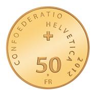 Schweiz / 50 CHF / .900 Gold / 11,29 g / 25 mm / Design: Brigitta García López (Entwurf) / Auflage: 6.000 Polierte Platte.
