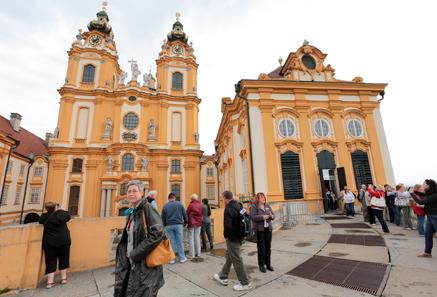 The Melk Abbey - destination of the women's program.