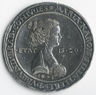 In der neuen Dauerausstellung finden sich auch Medaillen, wie diese von Giovanni Candida, Medaille auf Maximilian und Maria, nach 1478/79. Bronze, Guss; Dm 49.4 mm. Bern, Historisches Museum, Inv. 2001.1.