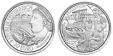 Österreich / 20 Euro / .900 Silber / 20,00 g / 34 mm / Design: Herbert Wähner (Vorderseite), Helmut Andexlinger (Rückseite) / Auflage: 50.000.