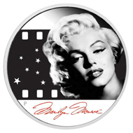 Tuvalu / 1 TVD / 1oz 999 silver / 31.135 g / 40.60 mm / Design: Aleysha Howarth / Mintage: 12,500. Photographed by Milton H Greene © 2012 Joshua Greene. Marilyn Monroe (TM); Rights of Publicity and Persona Rights: The Estate of Marilyn Monroe, LLC marilynmonroe.com.