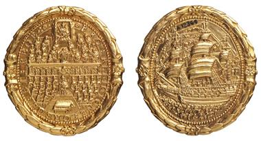Charles I, triple unit, 1642-1649.
