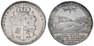 Los 141: BRAUNSCHWEIG-CALENBERG-HANNOVER, Georg III., 1760-1820, Taler, 1765, Clausthal, Ausbeute der Grube