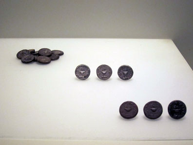 A coin hoard composed of shekels dating from the First Jewish War. Photo: UK.