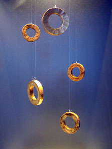 Gold rings as means of payment, c. 6,500-5,500 years old. Photo: UK.