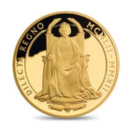 Great Britain / 10 GBP / 5oz .999 gold / 156.295 g / 65.00 mm / Design: Ian Rank-Broadley FRBS / Mintage: 250.