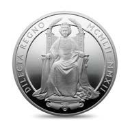 Great Britain / 10 GBP / 5oz .999 silver / 156.295 g / 65 mm / Design: Ian Rank-Broadley / Mintage: 1,952.