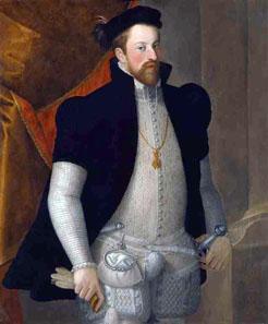 Der Initiator der Walzenprägemaschine war Erzherzog Ferdinand II. von Tirol, hier in einem Gemälde möglicherweise von Francesco Terzio nach 1557, Kunsthistorisches Museum Gemäldegalerie, Wien. Quelle: Wikipedia.