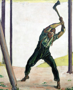 Ferdinand Hodler, Der Holzfäller, 1910. © Museum zu Allerheiligen Schaffhausen, Sturzenegger Stiftung.
