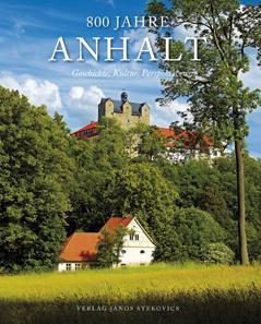 Anhaltscher Heimatbund (Hrsg.), 800 Jahre Anhalt. Geschichte, Kultur, Perspektiven. Wettin 2012, Verlag Janos Stekovics. 576 S., farbige Abb., Fadenbindung, 22 x 28 cm. ISBN 978-3-89923-296-7. 35 Euro.
