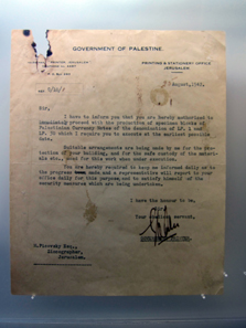 A letter from the High Commissioner to the printer. Photo: UK.