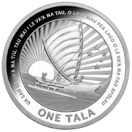 1 Tala silver proof collectible coin.
