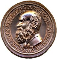 Vorderseite der Huster-Medaille zu Ehren von R. Goldschmidt.