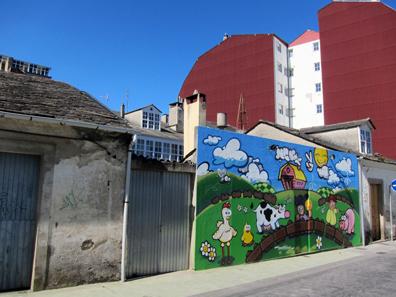 In the Streets of Vilalba. Photo: KW.